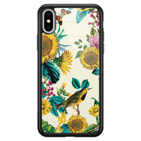 Casimoda iPhone XS Max glazen hardcase - Sunflowers
