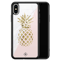 Casimoda iPhone XS Max glazen hardcase - Ananas