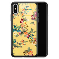 Casimoda iPhone XS Max glazen hardcase - Florals for days