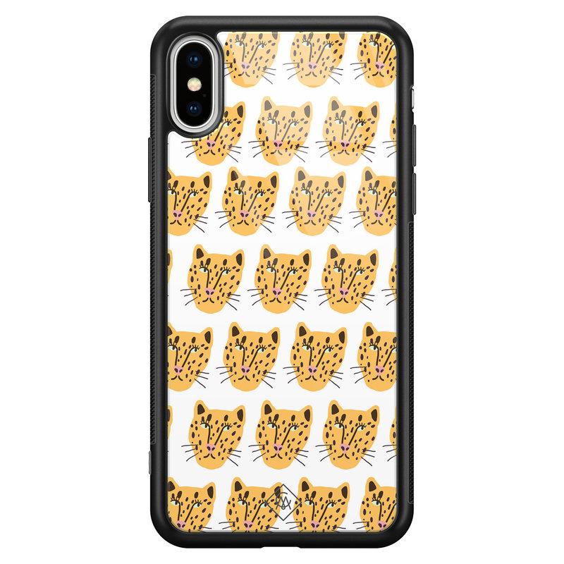 Casimoda iPhone XS Max glazen hardcase - Got my leopard