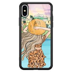Casimoda iPhone XS Max glazen hardcase - Sunset girl