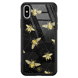 Casimoda iPhone XS Max glazen hardcase - Bee yourself