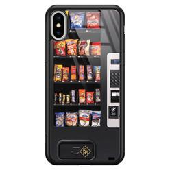 Casimoda iPhone XS Max glazen hardcase - Snoepautomaat