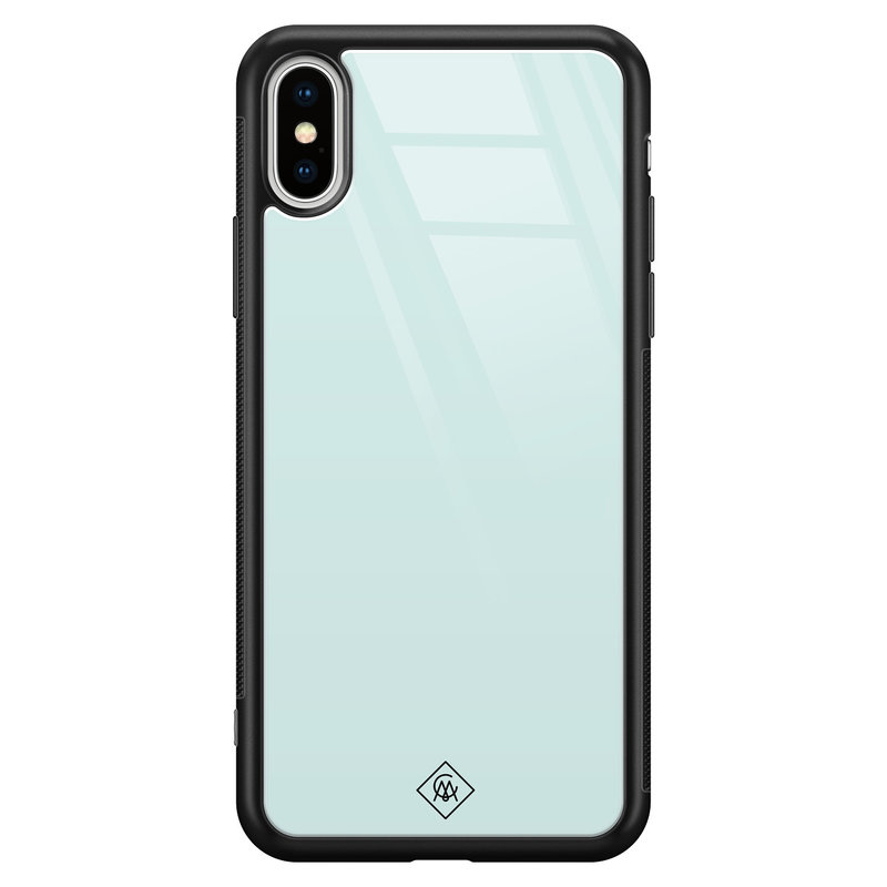 Casimoda iPhone XS Max glazen hardcase - Pastel blauw