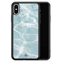 Casimoda iPhone XS Max glazen hardcase - Oceaan