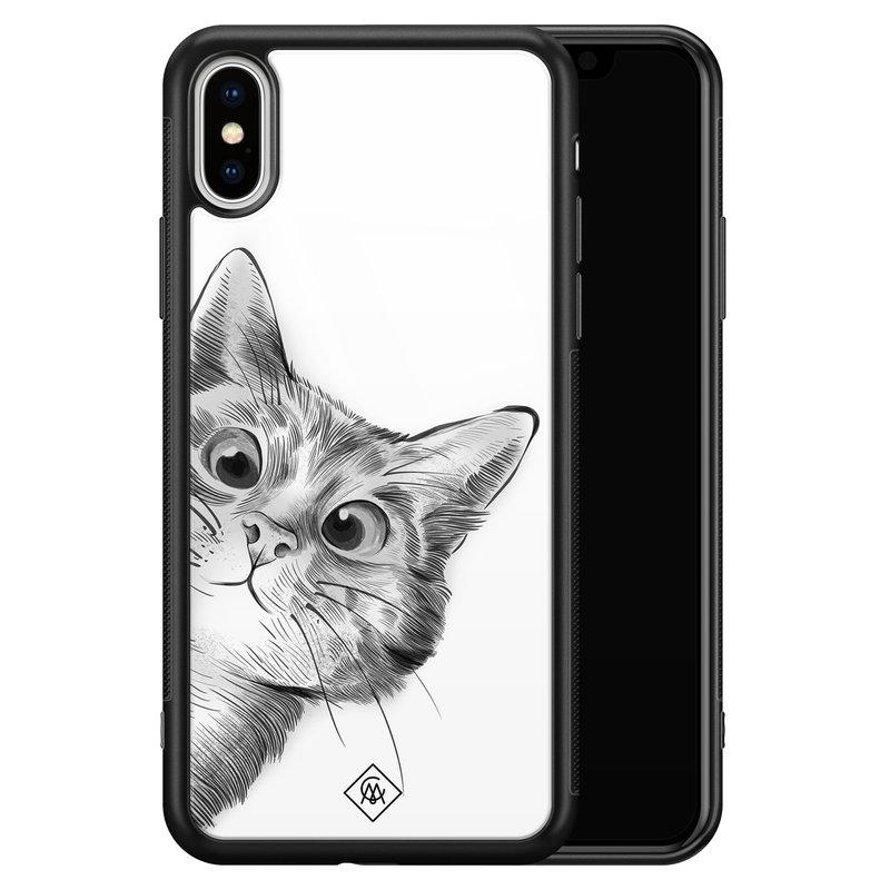 Casimoda iPhone XS Max glazen hardcase - Peekaboo