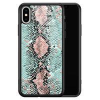 Casimoda iPhone XS Max glazen hardcase - Baby snake
