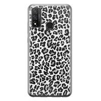 Casimoda Huawei P Smart 2020 siliconen telefoonhoesje - Luipaard grijs