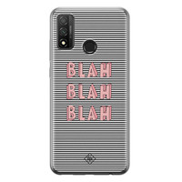 Casimoda Huawei P Smart 2020 siliconen telefoonhoesje - Blah blah blah