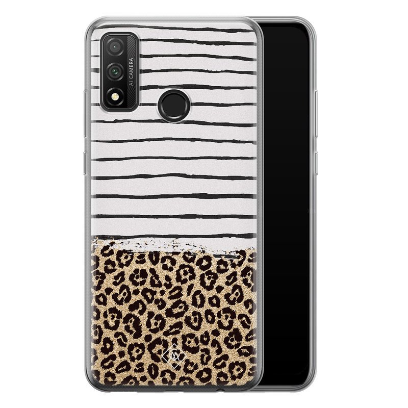 Casimoda Huawei P Smart 2020 siliconen telefoonhoesje - Leopard lines