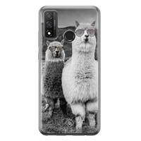 Casimoda Huawei P Smart 2020 siliconen telefoonhoesje - Llama hipster