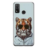 Casimoda Huawei P Smart 2020 siliconen hoesje - Tijger wild