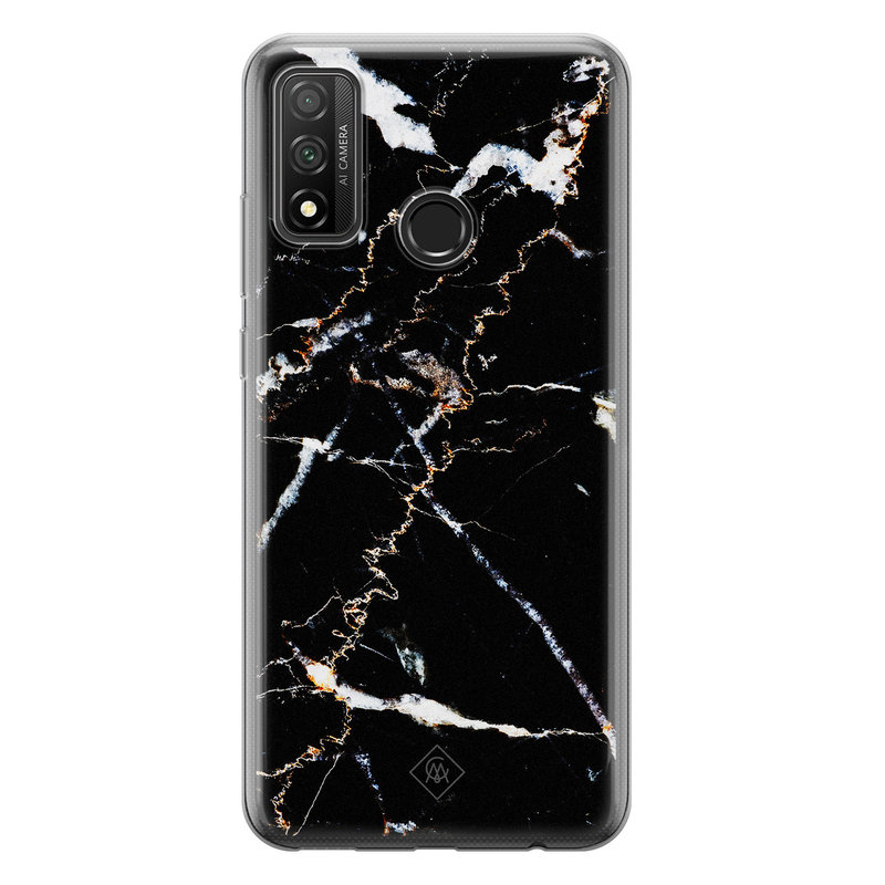 Casimoda Huawei P Smart 2020 siliconen hoesje - Marmer zwart