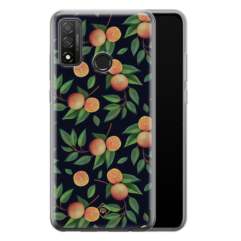 Casimoda Huawei P Smart 2020 siliconen hoesje - Orange lemonade