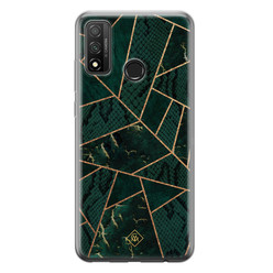 Casimoda Huawei P Smart 2020 siliconen hoesje - Abstract groen