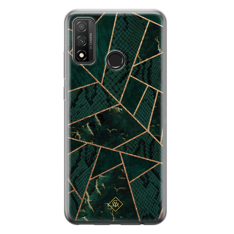 Casimoda Huawei P Smart 2020 siliconen hoesje - Abstract groen