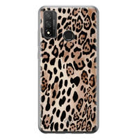 Casimoda Huawei P Smart 2020 siliconen hoesje - Golden wildcat
