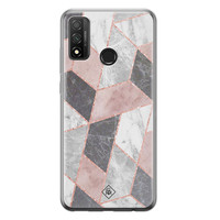 Casimoda Huawei P Smart 2020 siliconen telefoonhoesje - Stone grid