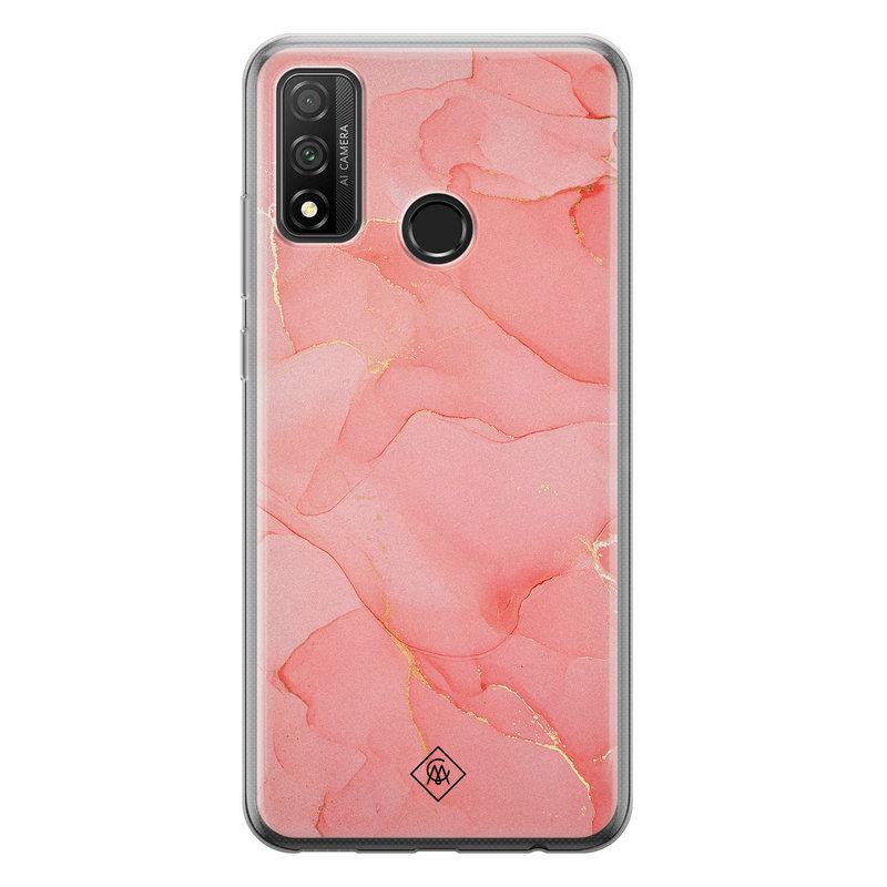 Casimoda Huawei P Smart 2020 siliconen hoesje - Marmer roze