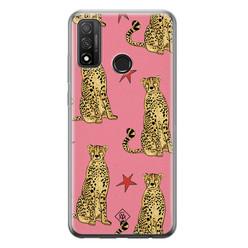Casimoda Huawei P Smart 2020 siliconen hoesje - The pink leopard