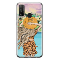 Casimoda Huawei P Smart 2020 siliconen hoesje - Sunset girl