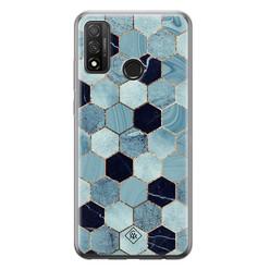 Casimoda Huawei P Smart 2020 siliconen hoesje - Blue cubes