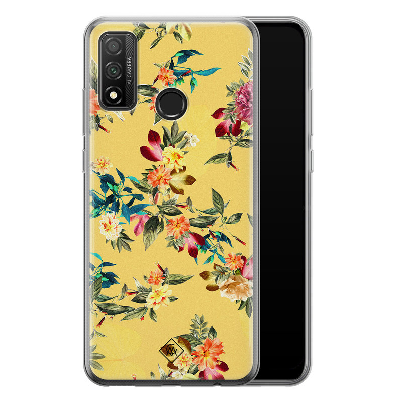 Casimoda Huawei P Smart 2020 siliconen hoesje - Floral days