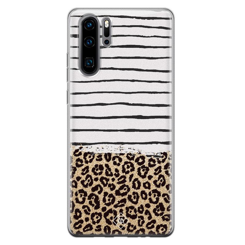 Casimoda Huawei P30 Pro siliconen telefoonhoesje - Leopard lines
