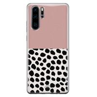 Casimoda Huawei P30 Pro siliconen hoesje - Pink dots