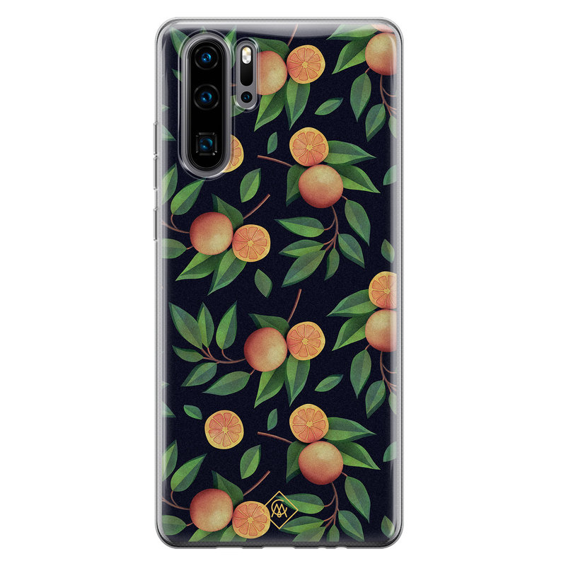 Casimoda Huawei P30 Pro siliconen hoesje - Orange lemonade