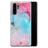 Casimoda Huawei P30 Pro siliconen hoesje - Marble colorbomb