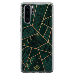 Casimoda Huawei P30 Pro siliconen hoesje - Abstract groen