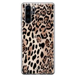 Casimoda Huawei P30 Pro siliconen hoesje - Golden wildcat