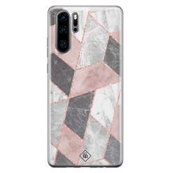 Casimoda Huawei P30 Pro siliconen hoesje - Stone grid
