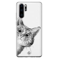 Casimoda Huawei P30 Pro siliconen hoesje - Peekaboo