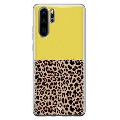 Casimoda Huawei P30 Pro siliconen hoesje - Luipaard geel