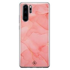 Casimoda Huawei P30 Pro siliconen hoesje - Marmer roze
