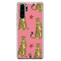 Casimoda Huawei P30 Pro siliconen hoesje - The pink leopard