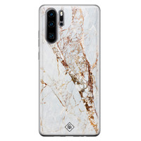 Casimoda Huawei P30 Pro siliconen hoesje - Marmer goud