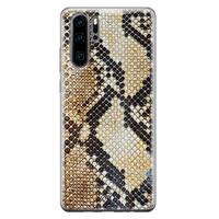 Casimoda Huawei P30 Pro siliconen hoesje - Golden snake