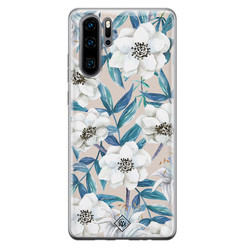 Casimoda Huawei P30 Pro siliconen hoesje - Touch of flowers
