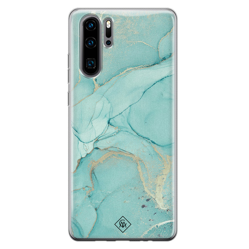 Casimoda Huawei P30 Pro siliconen hoesje - Touch of mint