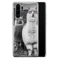 Casimoda Huawei P30 Pro siliconen telefoonhoesje - Llama hipster