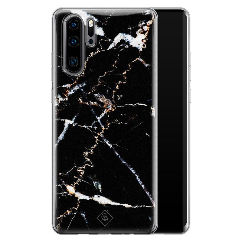 Casimoda Huawei P30 Pro siliconen hoesje - Marmer zwart