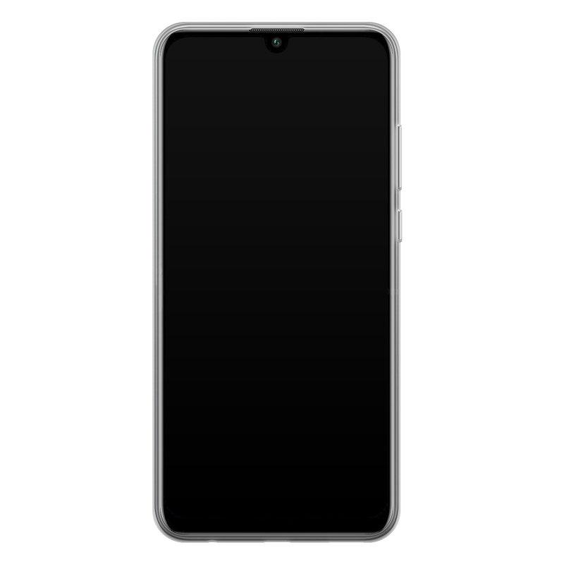 Casimoda Huawei P Smart 2020 siliconen hoesje - Marmer blauw