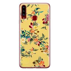 Casimoda Samsung Galaxy A20s siliconen hoesje - Floral days