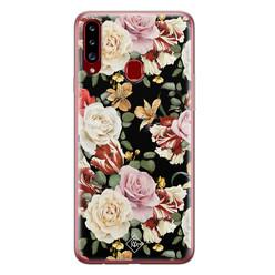 Casimoda Samsung Galaxy A20s siliconen hoesje - Flowerpower
