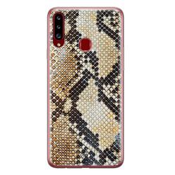 Casimoda Samsung Galaxy A20s siliconen hoesje - Golden snake