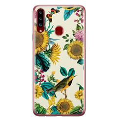 Casimoda Samsung Galaxy A20s siliconen hoesje - Sunflowers