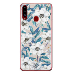 Casimoda Samsung Galaxy A20s siliconen hoesje - Touch of flowers